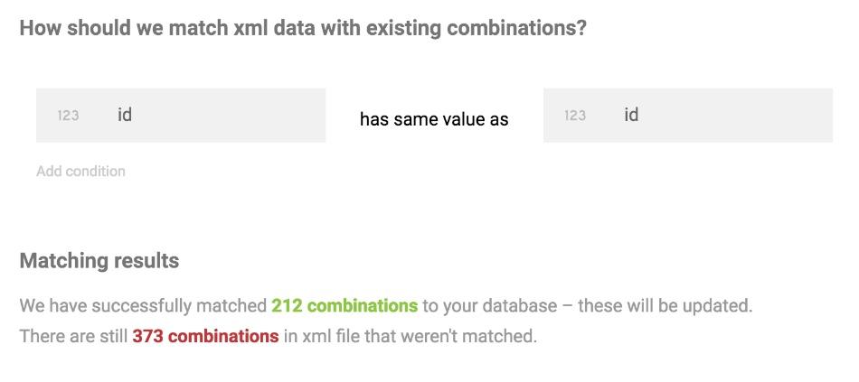 xml record matching