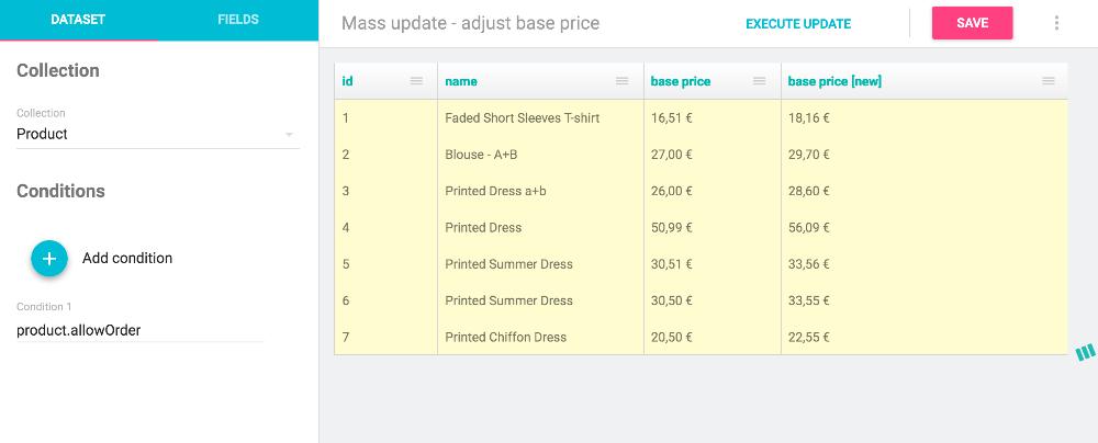 Mass Updates fields