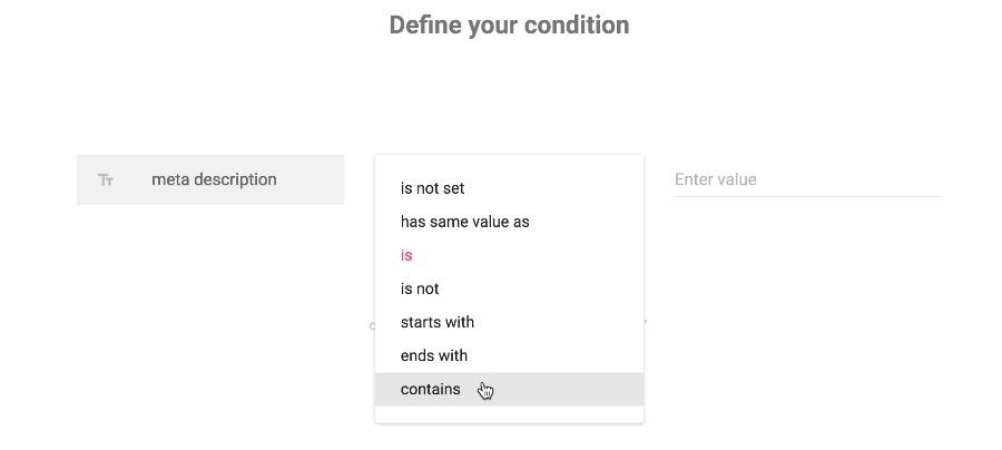 Condition builder - usability improvements - DataKick