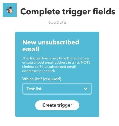 Create IFTTT MailChimp Trigger