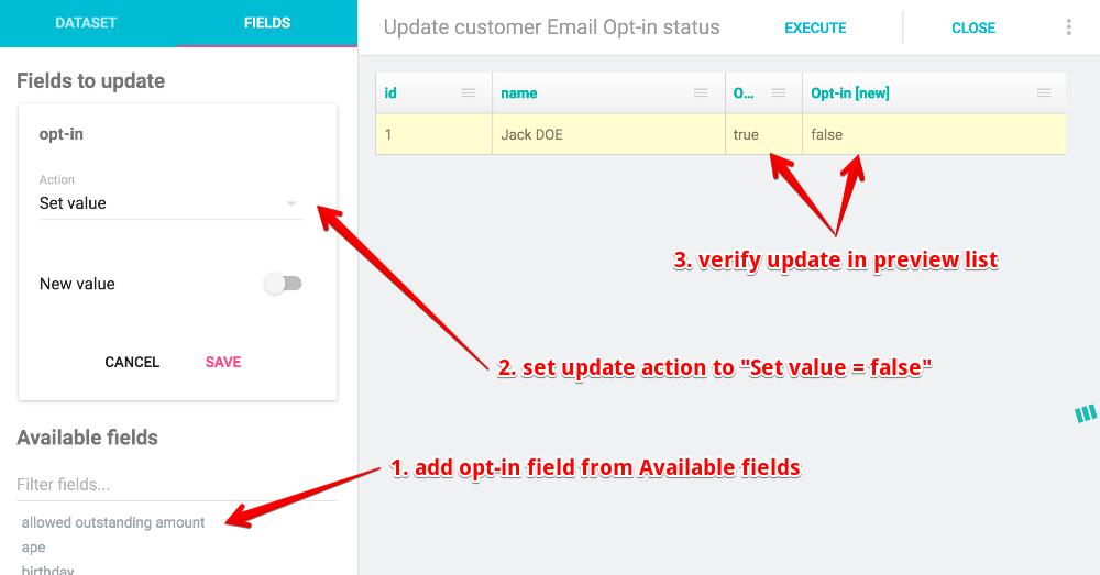 Mass Update - fields