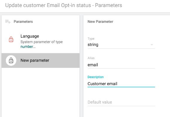 Mass Update - email parameter